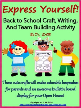 """Back to school craft, writing and team building activity """""""