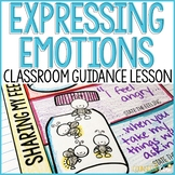 Expressing Emotions Activity Classroom Guidance Lesson for School Counseling