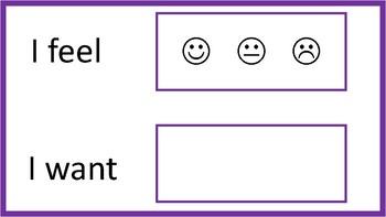 Expressing Emotions & Needs (Communication board or Pragmatic Activity)