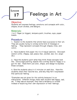 Expressing Feelings Through Art
