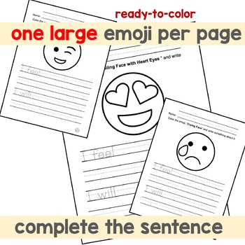 Emoji - Expressing Feelings and Thoughts with Emojis (Set 1)
