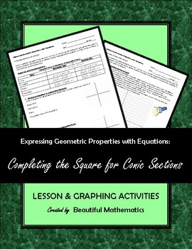 Complete The Square Conics Worksheets & Teaching Resources | TpT