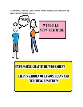 Expressing Gratitude Worksheet