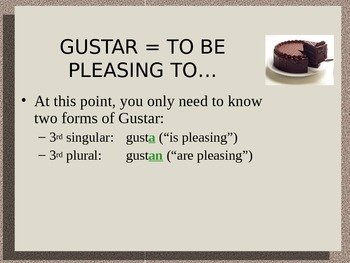 Expressing Likes/Dislikes: using Gustar