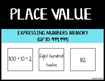 Expressing Numbers Memory