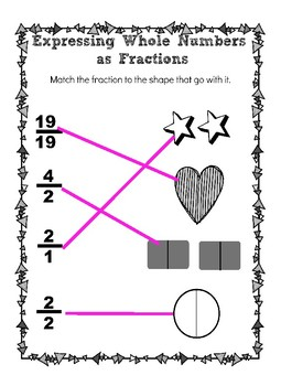 Expressing Numbers as Fractions