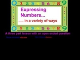 Expressing Numbers with a Three Part Math Lesson