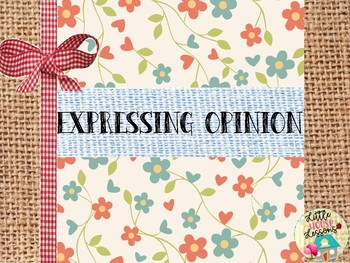 Expressing Opinion posters