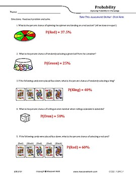 Expressing Probability As A Percentage