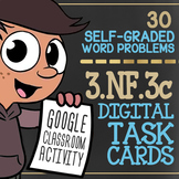 Expressing Whole Numbers as Fractions ★ 3rd Grade Google Classroom Activity 3NF3