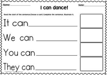 Verb Can- Grammar Pack