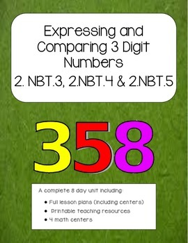 Expressing and Comparing 3 digit Numbers