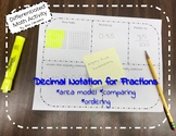 Expressing decimals as fractions differentiated math activity