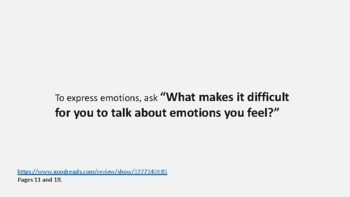 Expressing emotions