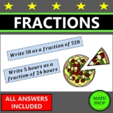 Expressing one quantity as a fraction of another