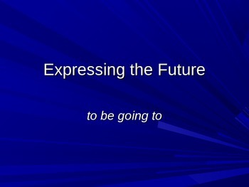 """Expressing the Future with """"Be Going to"""": Grammar for ESL Students"""