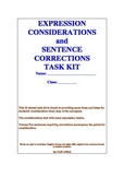 Expression Considerations and Sentence Corrections Task Kit
