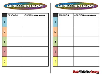 Expression Frenzy - 7th Grade Game [CCSS 7.EE.A.1]