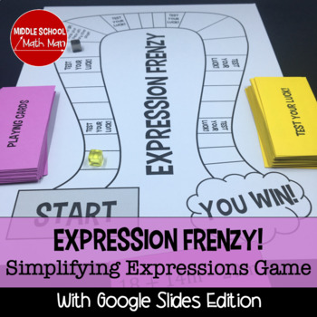 Expression Frenzy! A Simplifying Expressions Board Game