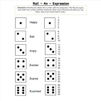 Expression Game - Dice