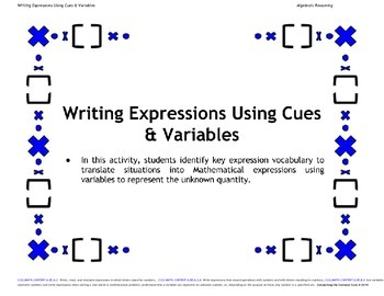 Algebra Expression Writing