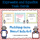 Expression and Equation Task Cards