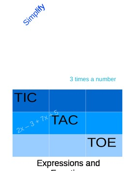Expression and Equation Tic-Tac-Toe