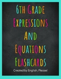 Expressions and Equations Common Core Vocabulary Flashcards