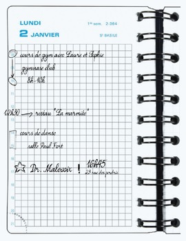 Expression orale: Mon agenda - Speaking task: My planner