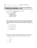 Expressions Chapter Test 6th Grade