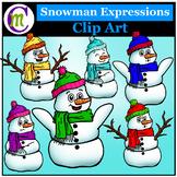 Snowmen Clipart Emotions