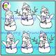 Emotions Clip Art ♦ Snowman Expressions