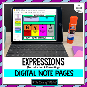 Expressions Digital Interactive Notebook Pages