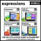 Expressions Digital Math Activity Bundle | 6th Grade Math