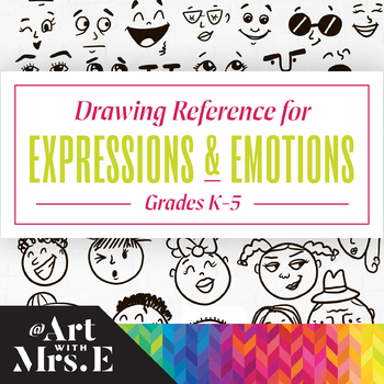 Expressions & Emotions Drawing Reference | Grades K-5