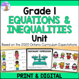 Expressions & Equality Unit (Grade 1)