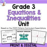 Expressions & Equality Unit for Grade 3 (Ontario Curriculum)