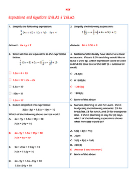 Expressions & Equations (7.EE.A1 and 7.EE.A2)