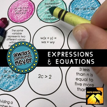 Expressions & Equations: Always, Sometimes, or Never