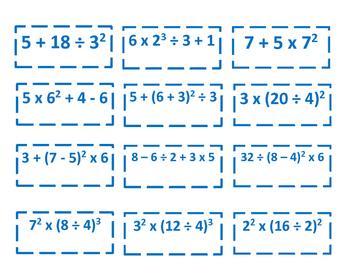 Expressions & Equations Card Sort