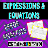 Expressions & Equations Error Analysis