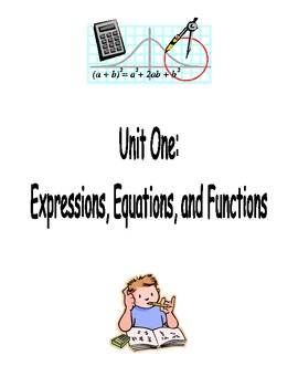 Expressions, Equations, Functions Notes Packet