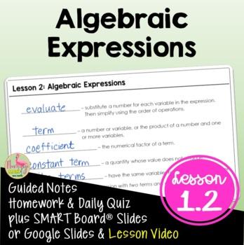 Algebra 2: Algebraic Expressions