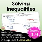 Solving Inequalities (Algebra 2 - Unit 1)