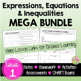 Expressions Equations Inequalities MEGA Bundle (Algebra 2 - Unit 1)