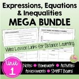 Expressions Equations Inequalities MEGA Bundle (Algebra 2