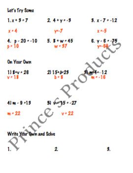 Expressions, Equations, Inequalities Bundle 10 Lessons 7.EE.4