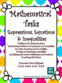 Expressions, Equations, & Inequalities: Mathematical Tasks