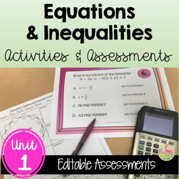 Expressions/Equations/Inequalities Activities & Assessments (Algebra 2 - Unit 1)