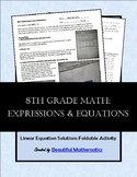 Expressions & Equations: Linear Equation Solutions